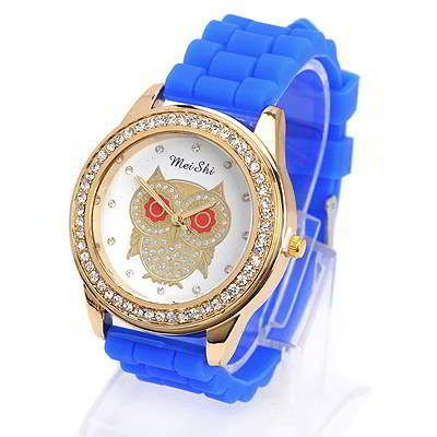 Diamond Decorated Owl Pattern Design Sapphire Blue. Fashionable with passion REPIN if you like it.😊 Only 107 IDR