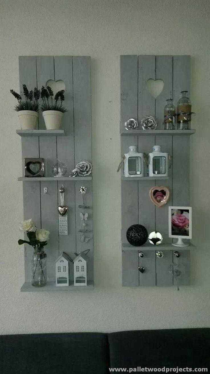 Decorative Pallet Shelves                                                                                                                                                                                 More