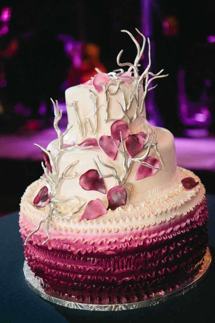 Gorgeous ombre cake.