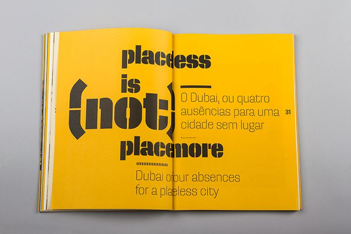 Beautiful use of Dezen Typeface in Dédalo architecture magazine. /// http://atelierdalves.com/dedalo-09/