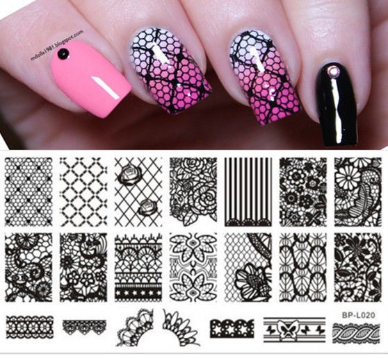 Nail Art Stamp Template Image Stamping Plates Manicure DIY BORN PRETTY #L020