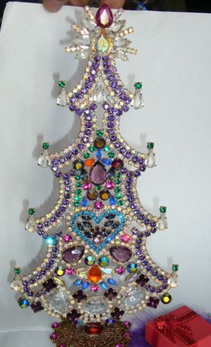 extra size rhinestone vintage free stand up large - Extra Large Christmas Tree Stand