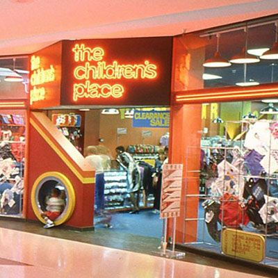 The Children's Place - Had a hole in the entry for kids to play in.