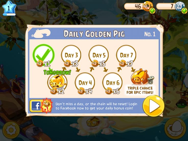 Angry Birds Epic by Rovio and Chimera - Daily Rewards - UI Interface Art Game Art HUD iOS Apps GUI