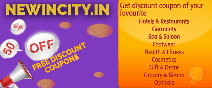 Get the #discountcoupons of huge categories. HURRY..!!