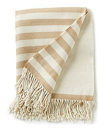 Southern Living Caleb Striped Throw Blanket #Dillards