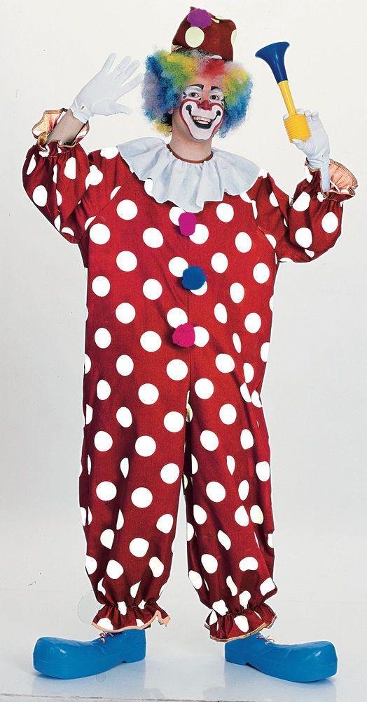 eda699b4abcc Dotted Clown Costume jumpsuit teen funny adult circus stage theatrical  parade  Rubies  CompleteOutfit