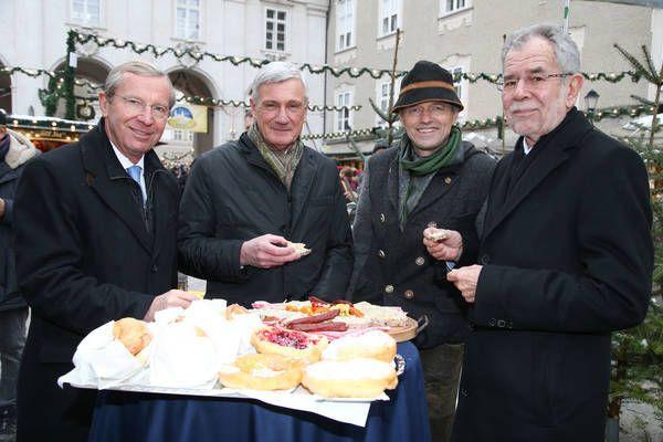 Salzburg: Ein Bundespräsident in Adventstimmung