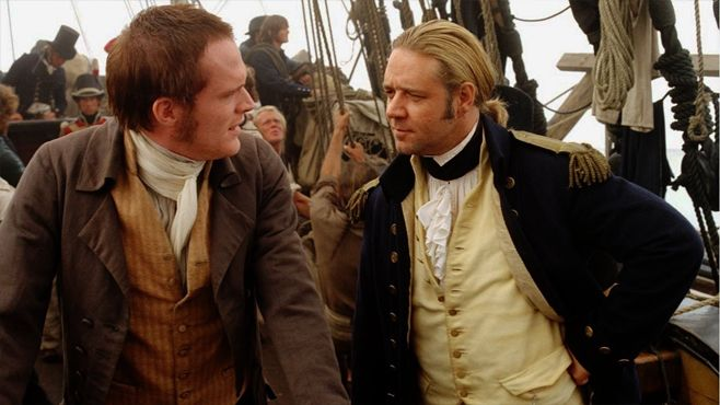 Master and Commander Paul Bettany Russell Crowe
