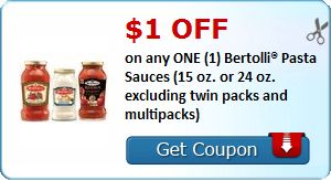 $1.00 OFF on any ONE (1) Bertolli® Pasta Sauces (15 oz. or 24 oz. excluding twin packs and multipacks) : #CouponAlert, #Coupons, #Printablecoupons Check it out here!!