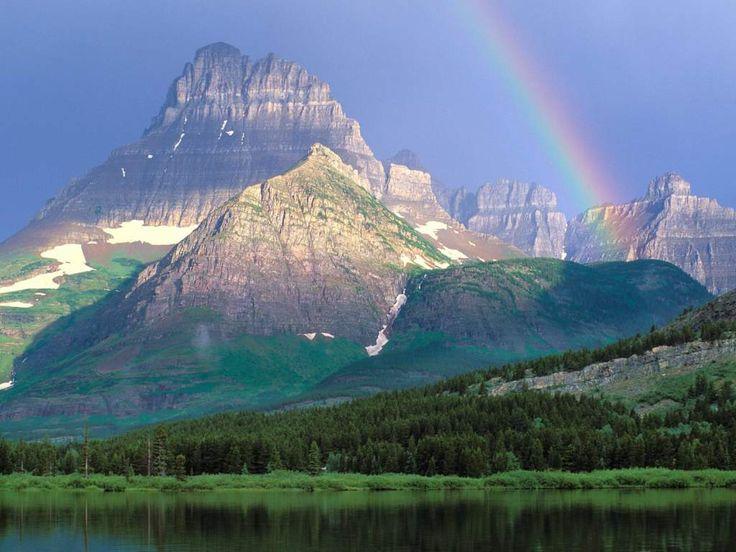 Glacier National ParkParks Montana, Nature, Rocky Mountain, Glacier National Parks, Beautiful, Rainbows, Places, Glacier Parks, British Columbia