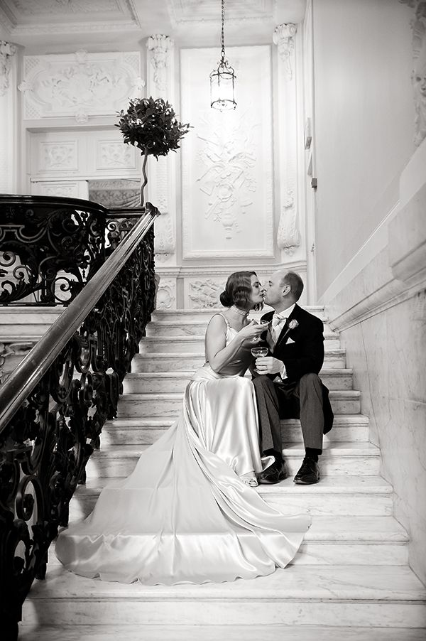Love this photo. 1920s themed wedding at Dartmouth House shot by Pippa Mackenzie.