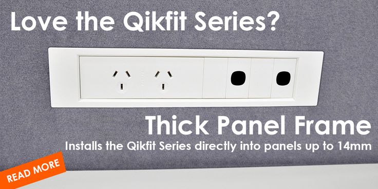 #ThickPanelFrames are now here! Installs the #Qikfit Series directly into panels from 3mm to 14mm thick. See it here: http://elsafe.com.au/en/qikfit-tpf