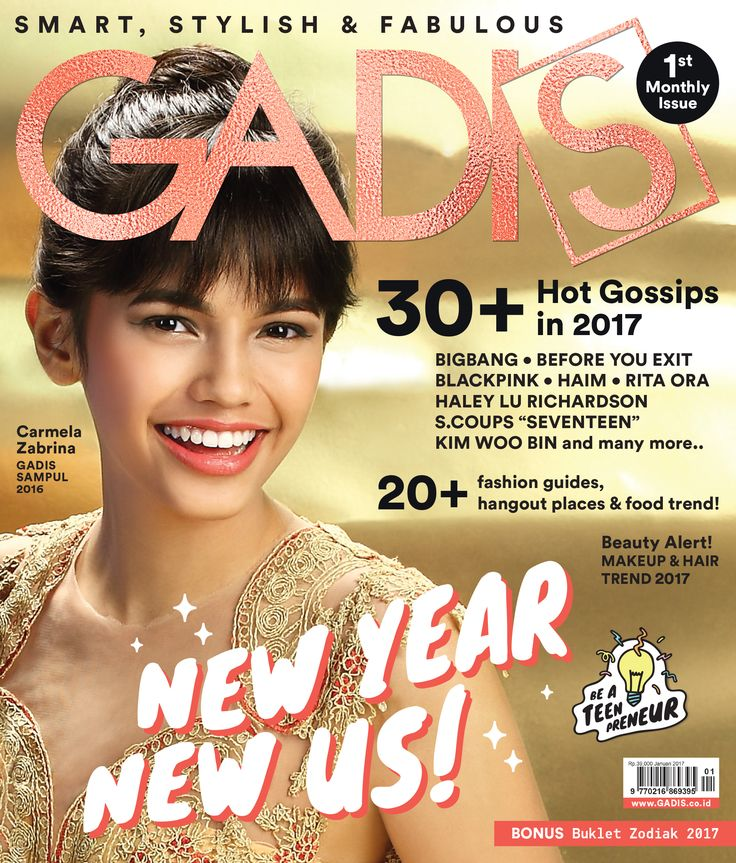 GADIS January Issue is out now! Grab it fast and we also have a lot of prizes for you! Pengin tahu cara dapetinnya? Klik http://www.gadis.co.id/competition/get-gadis-january-2017-edition-win-the-prize- (shorten) dan stay tune terus di timeline semua social media GADIS. #GADISNewYearNewUs