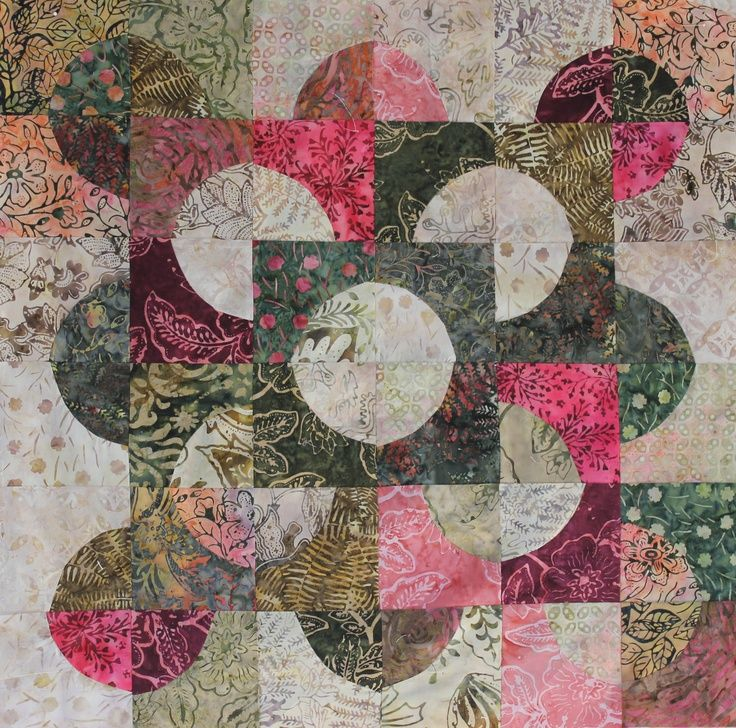 drunkard's path quilt pattern variations | Drunkard's Path variation