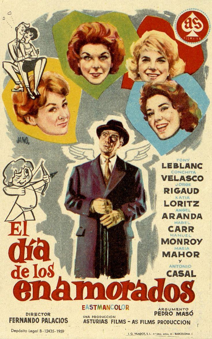 352.     JANO. El día de los enamorados. Dirigida por Fernando Palacios. Barcelona : I. G. Viladot, 1959.  #ProgramasdeMano #BbtkULL #CineEspañol #DiadelLibro2014