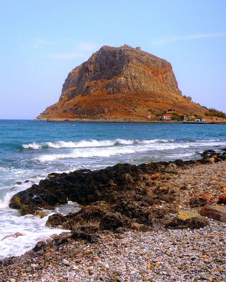 Beach in Monemvasia, Laconia, Peloponnese_ Greece