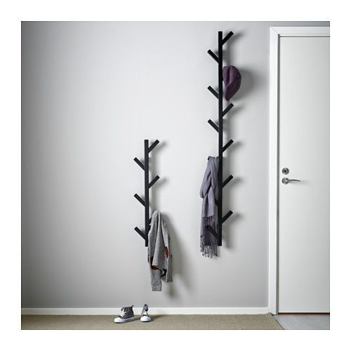 Ikea-TJUSIG-wall-hanger-hat-rack-coat-rack-BLACK-tree-branch-style-hard-to-find