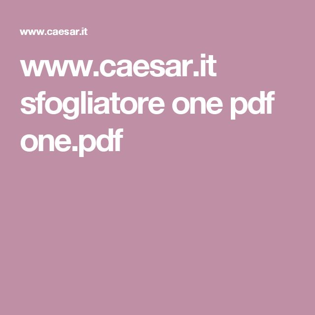 www.caesar.it sfogliatore one pdf one.pdf