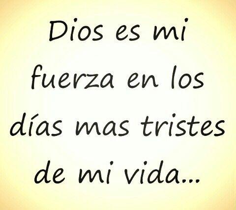 Dios es mi fuerza...