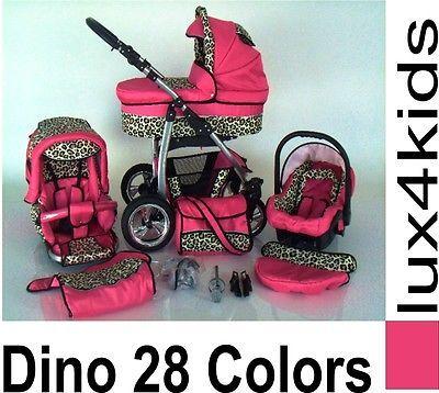 ★★★ Pram Pushchair Dino swivel wheels 3in1 from lux4kids 3in1 Travel System ★★★ in Baby, Pushchairs, Prams & Accs., Pushchairs & Prams | eBay