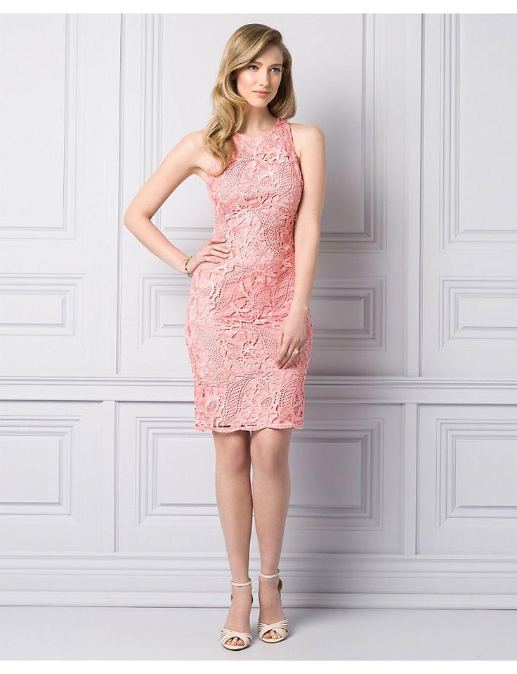 Guipure Lace Shift Dress - Le Chateau