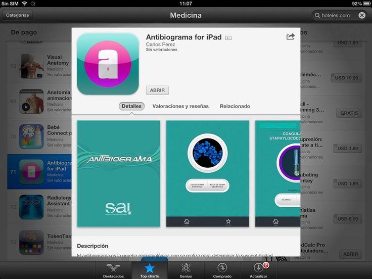 Antibiograma para iPad