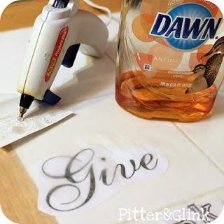 3D lettering!Crafts Ideas, Lettering, Dishes Detergent, Martha Stewart, 3D Letters, Hot Glue Guns, Diy, 3 D Letters, Wax Paper
