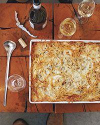Baked Four-Cheese Spaghetti // More Baked Pasta: http://www.foodandwine.com/slideshows/baked-pasta-dishes #foodandwine