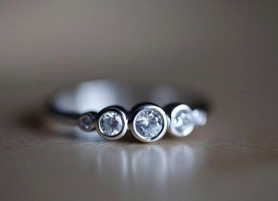Diamond Ring, Diamond Engagemet Ring, White gold from Capucinne by DaWanda.com