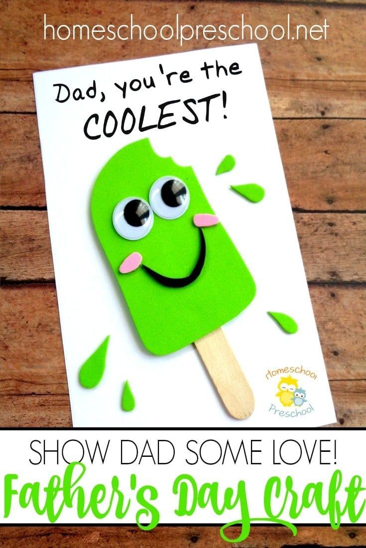 MAKE THIS ONLY WITH ICE CREAM AND MAKE ICE CREAM FRISTY. Looking for a fun Father's Day craft your kids can make? I've got exactly what you're looking for right here! Dad will love it!