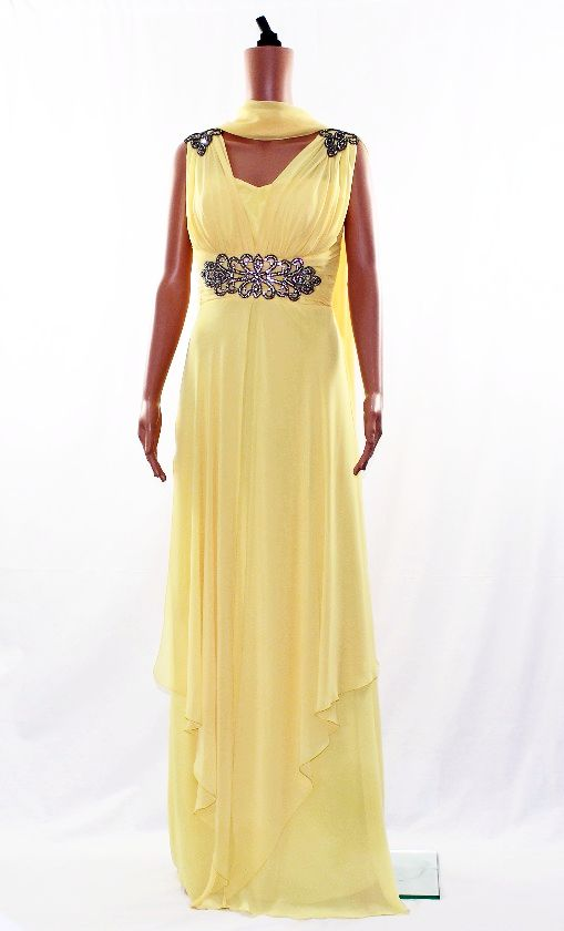 Prom Dress - Evening Gown -Yellow-Size12