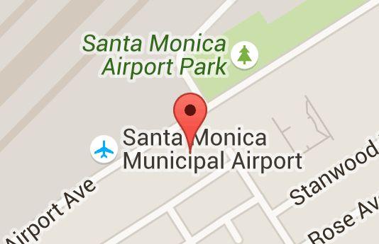 Map of museum of flying santa monica