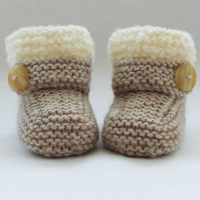 Hand Knitted Baby Booties-Shoes £5.75