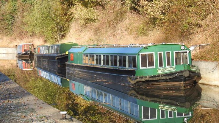 Narrowboats on the Wey and Arun Canal