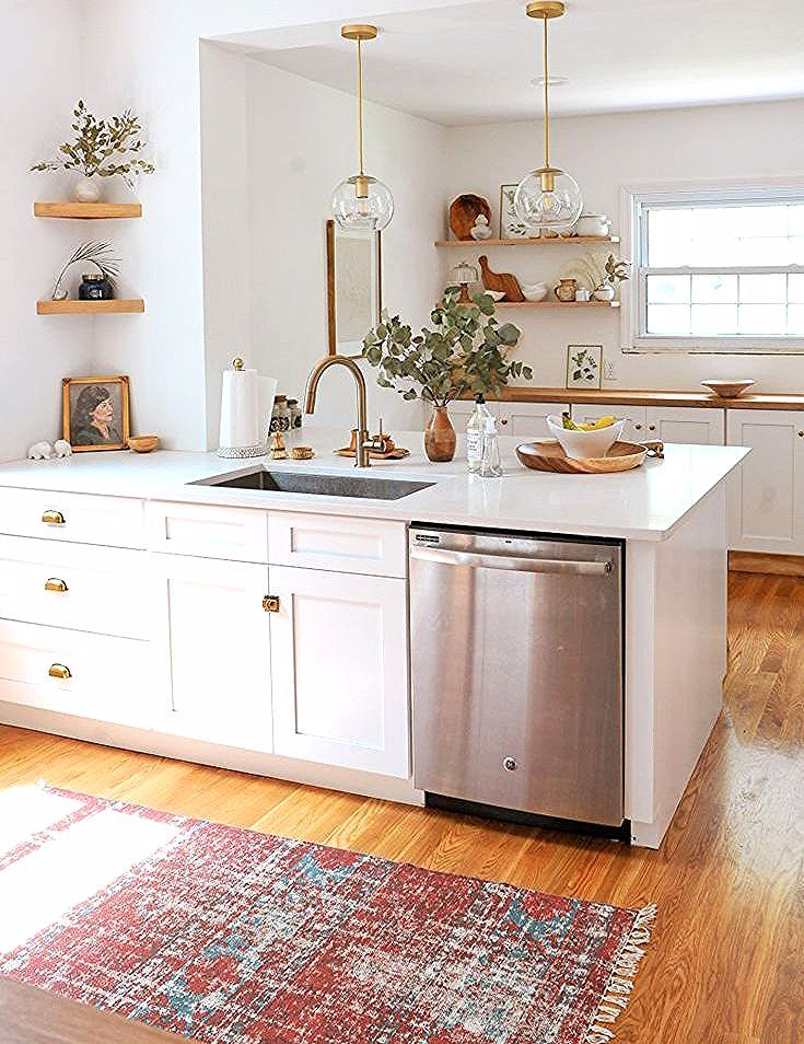 the best white kitchens - A mix of mid-century modern ...