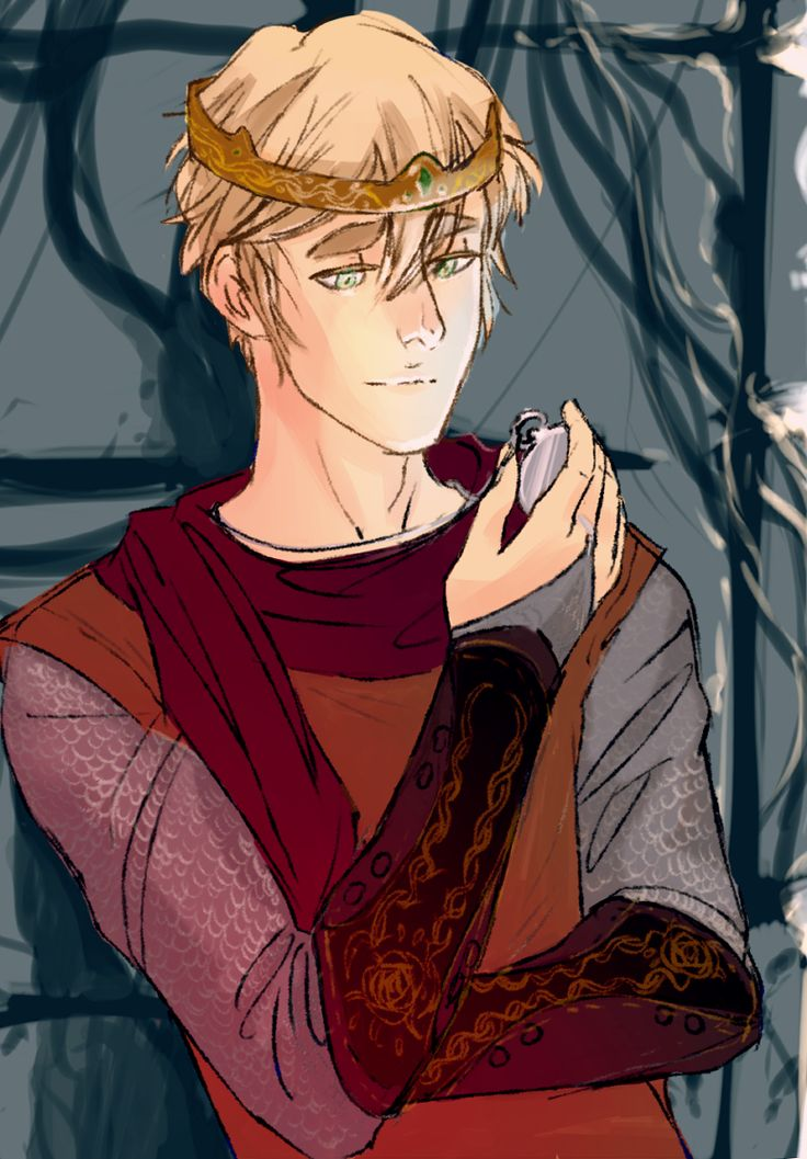 Arthur as a Medieval king - Art by skyootumcrux.tumblr.com - That's a pocket watch he's holding. A bit anachronistic, maybe, but this picture was a commission and the inclusion of the watch appears to have been part of it.