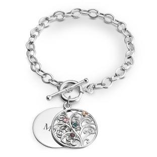 Sterling Family Tree Bracelets