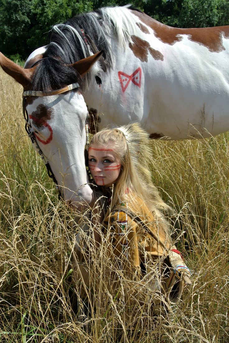 Horse and American Indian Photo Shoot