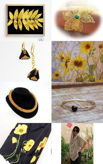 Black and Gold  by Maria on Etsy--Pinned with TreasuryPin.com