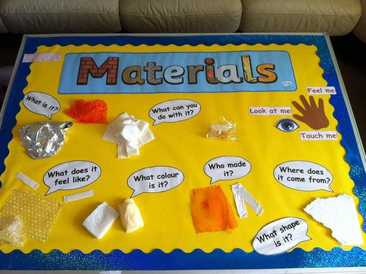 Materials, Touch, Feel, Look, Shape, Display, Classroom display, Colour, Who made it, Early Years (EYFS), KS1 & KS2 Primary Teaching Resources