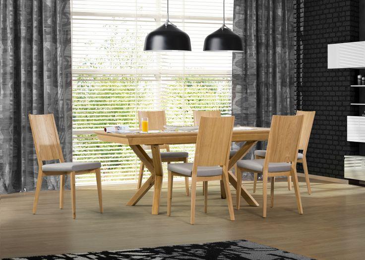 Great unorthodox style - perfect table for modern diningroom #KloseFurniture #moderndiningroom #woodentable