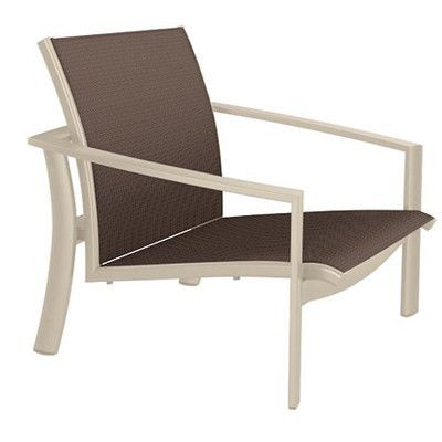 Tropitone KOR Relaxed Sling Spa Chair Seat Color: Luxor, Frame Finish: Sonora