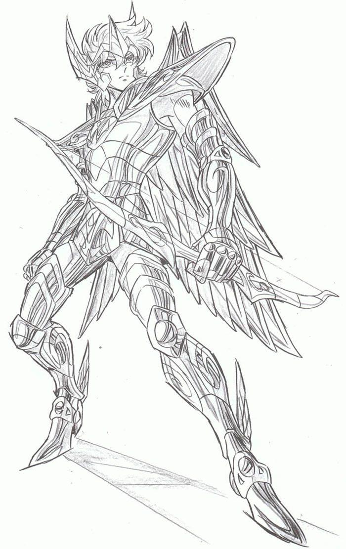desenhos para colorir cavaleiros do zodiaco sagitario
