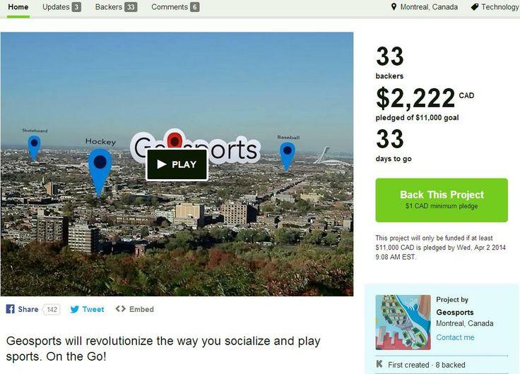 Kickstarter us ! www.kickstarter.com/projects/geosports/geosports