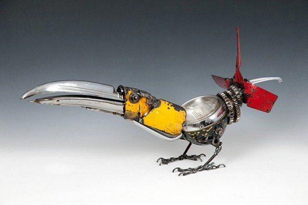 Recycled Car Parts Art