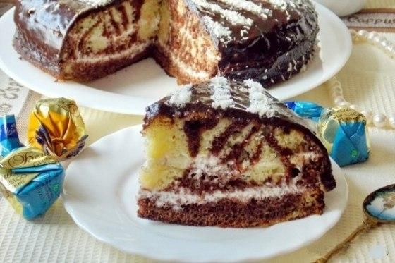 Very tasty and delicious Zebra cake from which everyone will be ecstatic, but for tea this cake just melts in your mouth. Prepare themselves at…