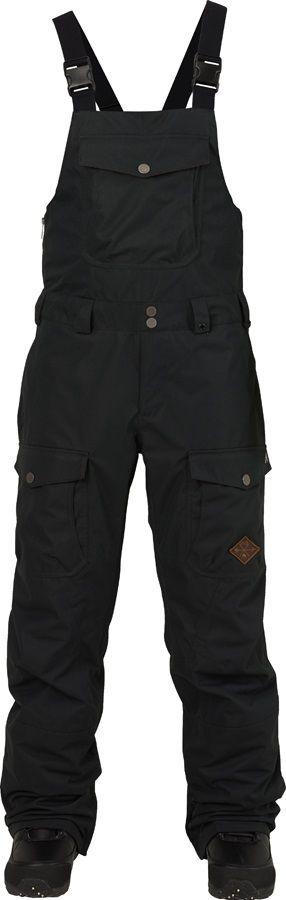 Burton Buckshot Bib Ski/Snowboard Pants, XS, True Black