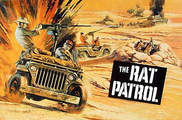 "'The Rat Patrol' - an American television program that aired on ABC during the 1966–1968 seasons. The show follows the exploits of four Allied soldiers — three Americans and one Englishman — who are part of a long-range desert patrol group in the North African campaign during World War II. Their mission: ""to attack, harass and wreak havoc on Field Marshal Rommel's vaunted Afrika Korps""."