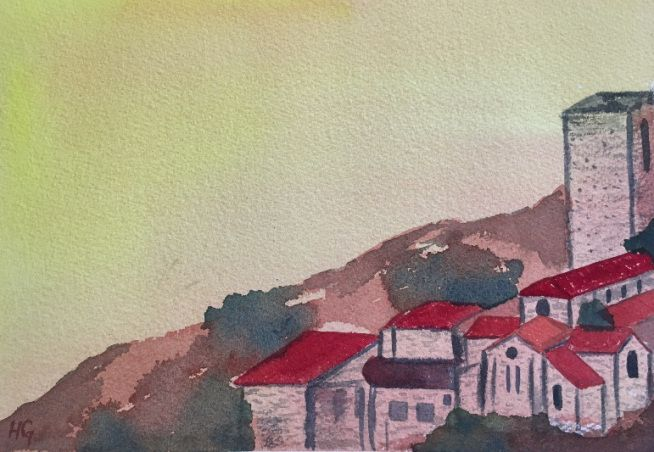 """""""Assisi Hill"""" by Yelena"""